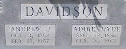 Addie Hyde Davidson (1886-1963) - Find A Grave Memorial