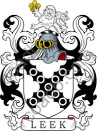 Leek Family Crest, Coat of Arms and Name History