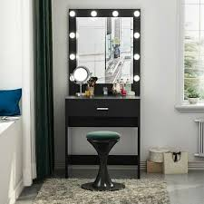 tribesigns vanity table set with 10led