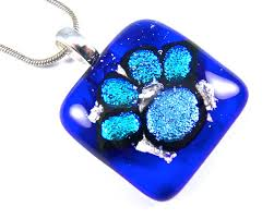 cremation ashes pendant dichroic glass