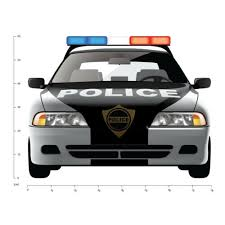Police Car Wall Decal Sticker Ws 41209 Home Garden Children S Bedroom Boy Decor Decals Stickers Vinyl Art