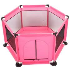 Keimav Playpen For Baby Kids 6 Panel Portable Baby Playard Fence Pink Shopee Philippines