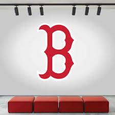 Boston Red Sox Logo Wall Decal Baseball Sport Sticker Room Decor Vinyl Mlb Cg093 Ebay