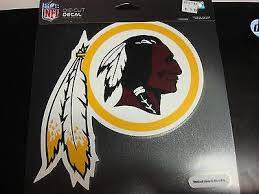 Washington Redskins Colored Window Die Cut Decal Wincraft Sticker 8x8 Sports City Hats