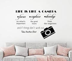 Amazon Com Diuangfoong Wall Decal Life Is Like A Camera Vinyl Quote Decal Photo Studio Home Decor Home Kitchen