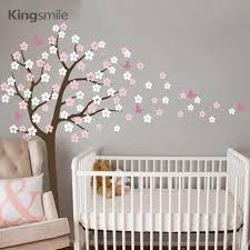 الحديثة شجرة ورد الجدار ملصق الأبيض زهر الكرز فرع الفينيل Nursery