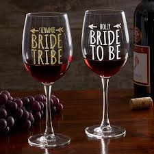 Bride Tribe Personalized Red Wine Glass Wedding Gifts