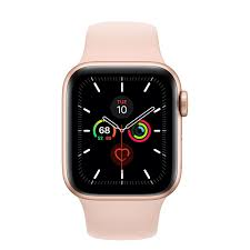 Apple Watch Series 5 GPS, 40mm Gold Aluminum Case with Pink Sand Sport Band  - Regular - Apple