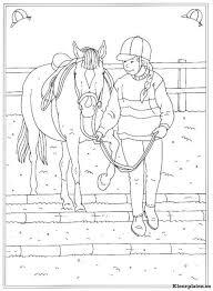 Op De Manege Kleurplaat Kleurplaten Paarden Paard Tekeningen