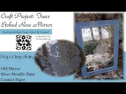 faux etched mirror for home or garden