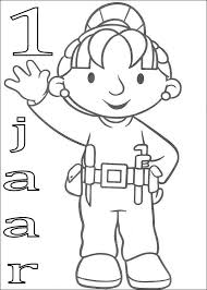 Kids N Fun Kleurplaat Bob De Bouwer Verjaardag Wendy 1 Jaar