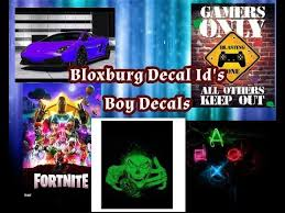 Bloxburg Id Decal Boy Decals Youtube