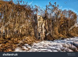 White Picket Fence Gate Frame Entrance Stock Photo Edit Now 604308260