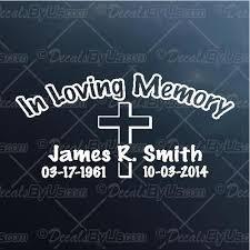 Save Big On In Loving Memory Cowboy Car Decals