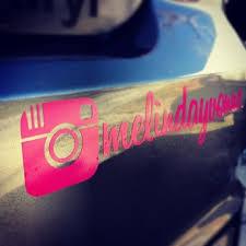 Instagram Custom Car Vinyl Decal Sticker Marketing Custom Car Vinyl Decals Instagram Decal Car Monogram Decal