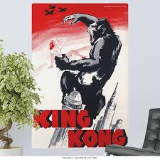 King Kong Black And Red Wall Decal At Retro Planet