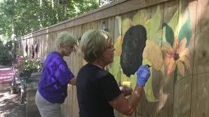 Sunflower Fence Mural Youtube