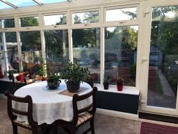 breakfast room looks out on lovely