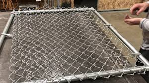 How To Install Chain Link Fence Gate 6x4 Commercial Youtube