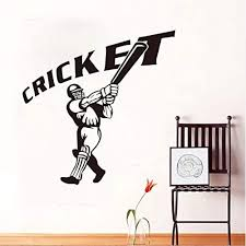 Amazon Com Hwhz 59x59 Cm Baseball Player Wall Sticker Cricket Quote Removable 3d Poster Waterproof Wall Decals Gym Sport Mural For Kids Room Home Decor Home Kitchen