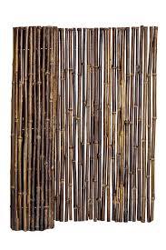 Bamboo Fence Natural Black 1 X 4 X 8 Sunset Bamboo