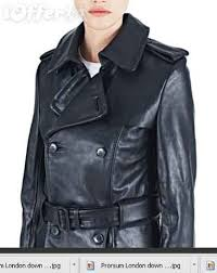 madonna leather trench coat in black