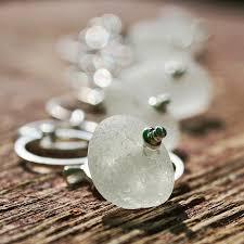 soft white sea glass bracelet sea