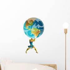 Titan Atlas Holding Earth Wall Decal Wallmonkeys Peel And Stick Decals For Boys 12 In H X 8 In W Wm502714 Walmart Com Walmart Com