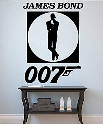James Bond Wall Decal Agent 007 Vinyl Sticker Superhero Decals Home Decor 12jmbd Amazon Com