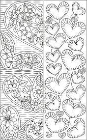 8 Coloring Bookmarks With Hearts Coloring Bookmarks Mandala