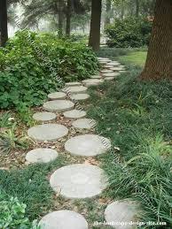 walkways round pavers stone garden