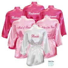 personalized satin robes with le