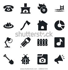 isolated black icon job stock vector