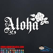 Aloha Flower Vinyl Decal Sticker Hawaii Decals