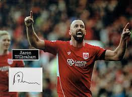 Aaron WILBRAHAM SIGNED Autograph 16x12 Photo Mount AFTAL COA Bristol City  FC | eBay
