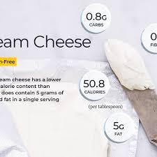 cream cheese nutrition calories carbs