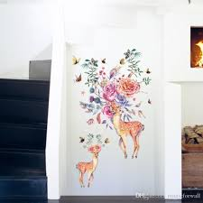 Flowers Birds Butterfly Deer Heads Wall Stickers Kids Room Nursery Wall Decor Decals Posters Living Room Wall Graphic Selfadhesive Wallpaper Removable Wall Art Stickers Removable Wall Decal From Magicforwall 7 62 Dhgate Com