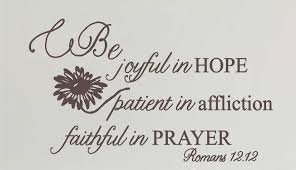 Romans 12 12 Be Joyful In Hope Wall Decal A Great Impression