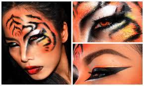 tiger halloween makeup look you