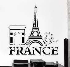 Wall Decal Paris France Eiffel Tower French Building Vinyl Decal Uniqu Wallstickers4you