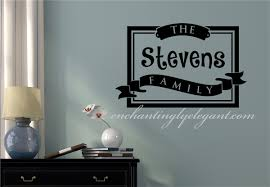 Custom Family Name Frame Vinyl Decal Wall Stickers Letters Words Home Decor Gift