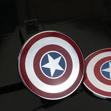 Metal Captain America Shield Marvel Car Decal Sticker Badge Emblem Motorcycle