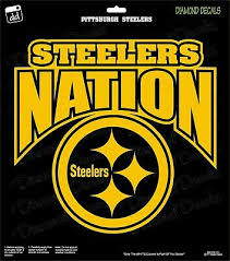 Pittsburgh Steelers Nation Nfl Football Champs Gold Vinyl Decal Car Window Ebay
