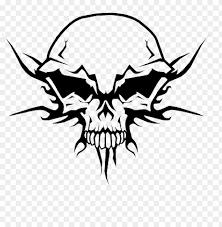 evil skull face makeup