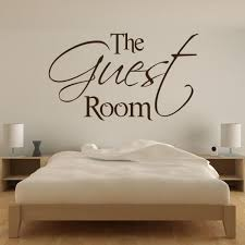 The Guest Room Wall Art Sticker Decal Transfer Spare Bedroom X Large As10056 Ebay