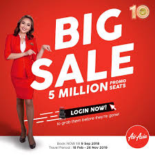 AirAsia Big Sale: 5 million promotional seats up for grabs!