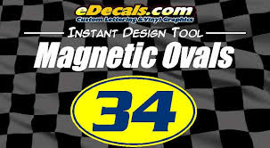Custom9026 Magnetic Oval Circle Racing Numbers Edecals Com