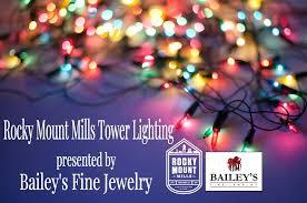 rocky mount mills tower lighting