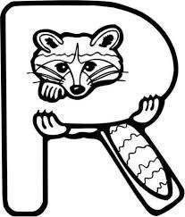 Letter R Is Voor Raccoon Kleurplaat Categorieen Engels Alfabet