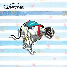 Jump Time 13cm X 8cm Greyhound Racing Dog Vinyl Decal Funny Car Styling Vinyl Fashion Graphic Window Bumper Decor Car Stickers Car Stickers Aliexpress